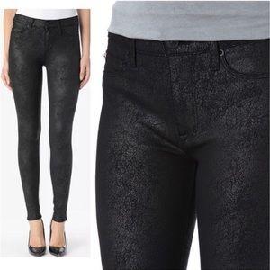 Hudson Nico Mid-Rise Super Skinny Black Jeans